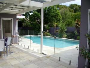 Glass pool Fence spigot